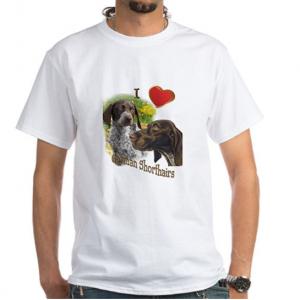 CafePress German Shorthair Hunters White T-Shirt