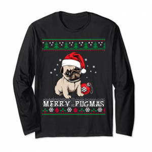 Cool Pug Christmas Sweater Shirt for Pug Dog Lovers