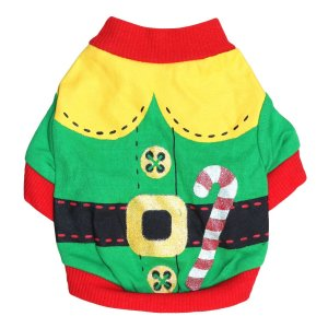 DroolingDog Dog Christmas Santa Claus Costume Puppy T shirt for Small Dogs