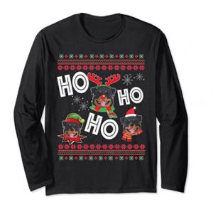HO HO HO Rottweiler Long Sleeve Funny Dog Xmas Gift Shirt