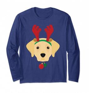 Labrador-Retriever-Dog-With-Weindeer-Horns-Funny-Xmas-Tshirt