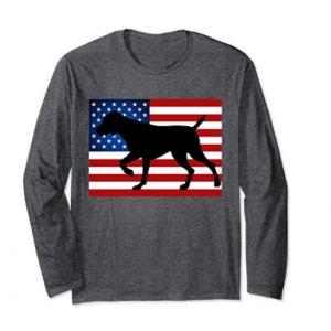 Short Haired Pointer Dog T shirt Patriotic USA Flag dog