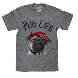 Tee Luv Pug Life Dog Graphic T shirt