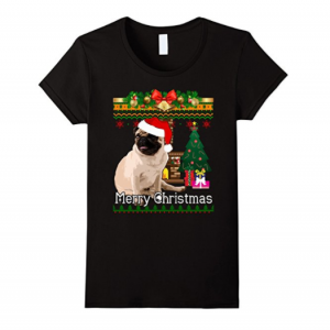 Ugly Christmas Sweater PUGS T Shirt Funny Dog Shirt